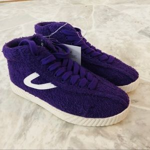 NWT Tretorn Nylite Terry purple sneakers size 6
